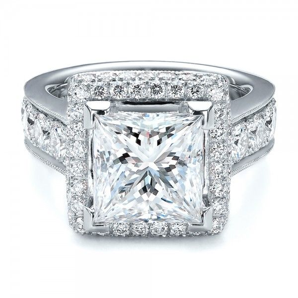 Love This Princess Cut And Halo Engagement Ring!