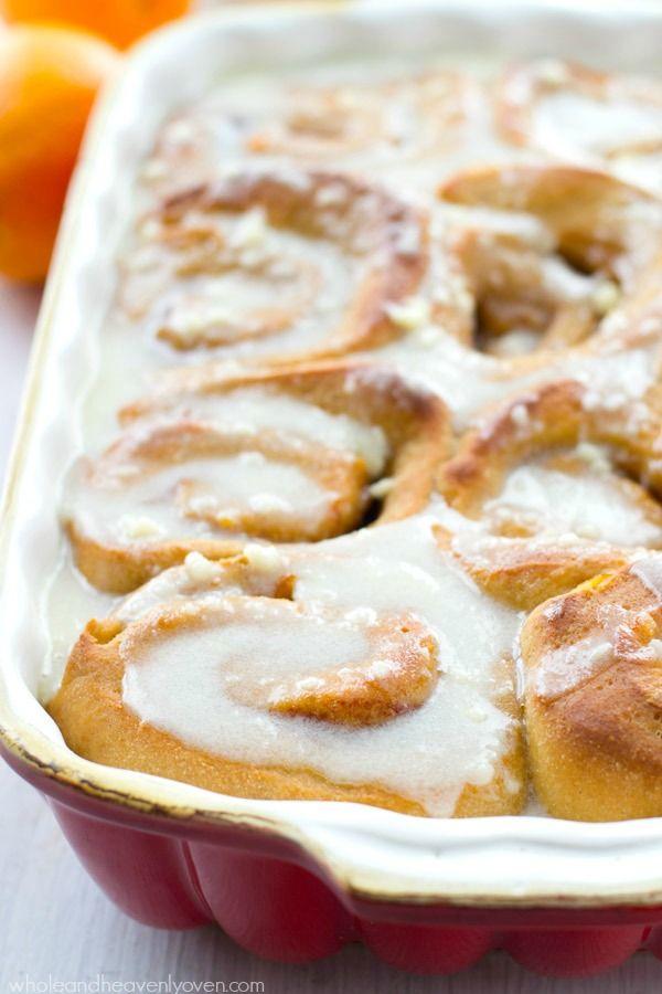 overnight orange cinnamon rolls with cream cheese icing bee s ...