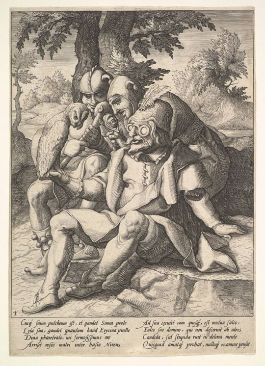 Ancient Spactacles-  Jacques de Gheyn II (Netherlandish, 1565–1629)   The Wisedom of Fools, from Six Proverbs