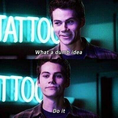 — Что за тупая идея?  — Сделаем это.
