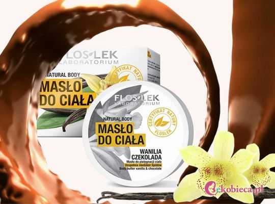Masło do ciała o bogatej, odżywczej konsystencji - świetnie sprawdza się do masażu. Intensywny zapach relaksuje i jest rozkoszą dla zmysłów i ciała.  http://www.ekobieca.pl/product-pol-4836-Floslek-Natural-Body-Maslo-do-ciala-Wanilia-i-czekolada.html