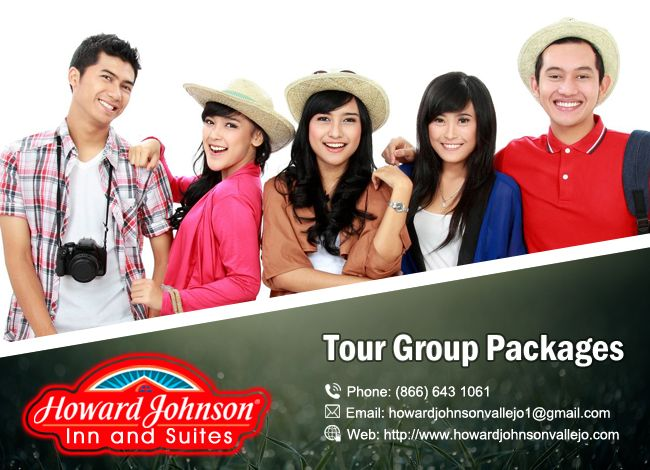 Tour Groups are warmly welcomed! Howard Johnson Inn & Suites Vallejo offers customized packages. https://goo.gl/DqFhOL