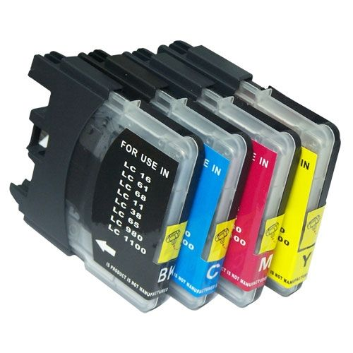 13.59$  Buy here - http://alioi3.shopchina.info/go.php?t=1702163188 - 1Set Compatible Ink Cartridge for Brother LC980 LC1100 LC38 LC67 LC61 DCP-145C DCP-165C DCP-185C DCP-385C DCP-535CN DCP-585CW  #buymethat