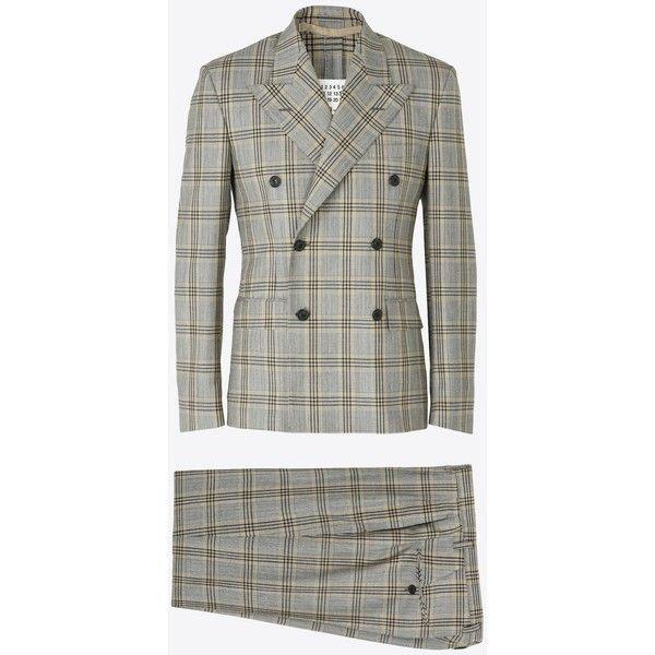 Maison Margiela Suit (147.530 RUB) ❤ liked on Polyvore featuring men's fashion, men's clothing, men's suits, grey, mens wool suits, mens gray suit, mens grey suits, merino wool mens clothing and mens peak lapel suits