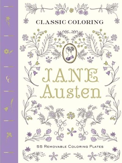 the paperback of the classic coloring jane austen adult coloring book 55 removable coloring plates by abrams noterie anita rundles - Coloring Book Paper Stock