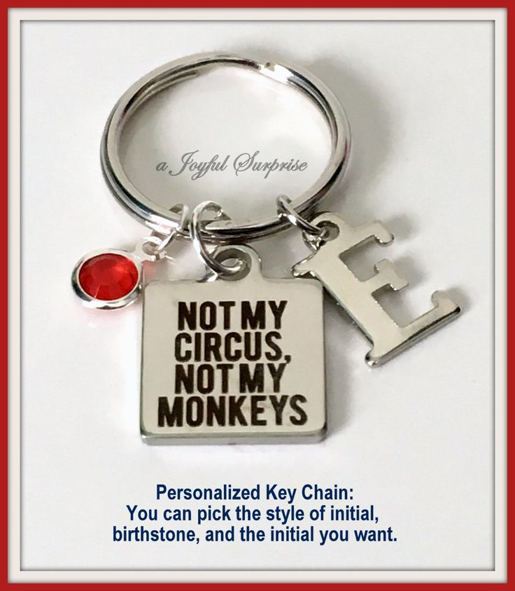Not my Circus, Not my Monkeys Keychain, Silver Circus Keyring, Gift for Coworker Gifts, Initial Gift for Boss Gift, Polish proverb Key Chain  A personal favorite from my Etsy shop https://www.etsy.com/ca/listing/266508032/not-my-circus-not-my-monkeys-keychain