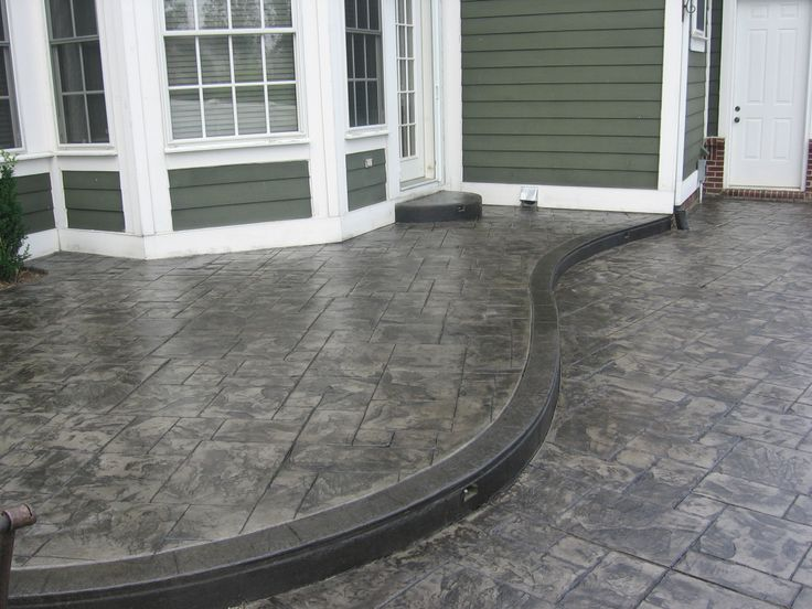 cement stamped driveways authentic stamped concrete can make your home improvement dream become - Concrete Design Ideas