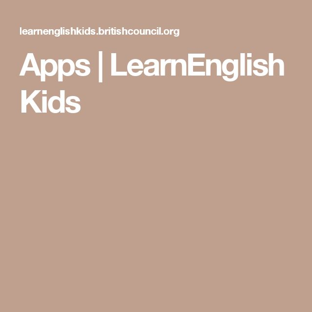 Apps | LearnEnglish Kids