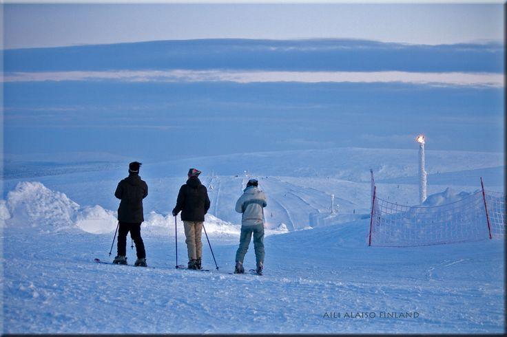 White landscape from Saariselkä Finland by Aili Alaiso