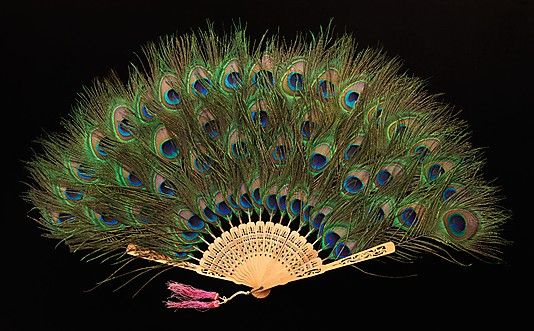 Fan, ca. 1915. Chinese. The Metropolitan Museum of Art, New York. Brooklyn Museum Costume Collection at The Metropolitan Museum of Art, Gift of the Brooklyn Museum, 2009; Gift of the trustees of Mary Flagler Cary Charitable Trust, 1969 (2009.300.2156) #peacock