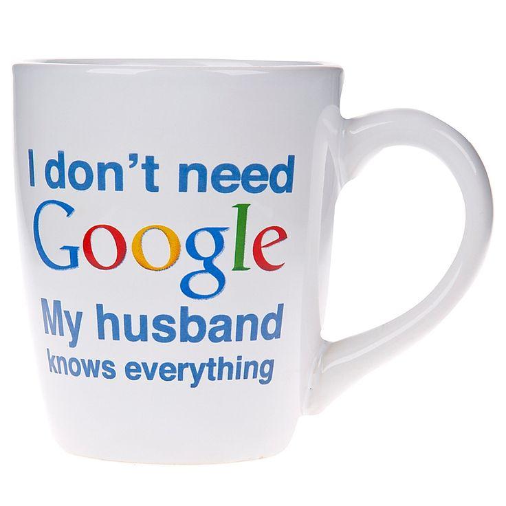 Park Art|My WordPress Blog_I Dont Need Google My Wife Knows Everything Mug