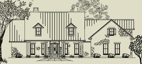 Texas Farm house plan 0664