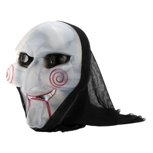 Mysterious Glossy Ghost Face Mask Party Product for Halloween Masquerade Masked Ball Cosplay