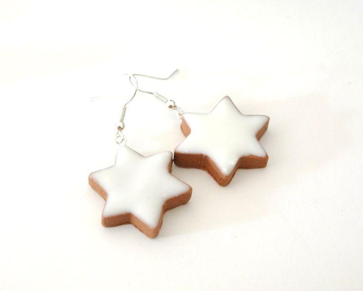 Weihnachtliche Ohrringe in Form von leckeren Zimtsternen. / christmas earrings looking like star-shaped cinnamon biscuit by  Schmuck-Stadt via DaWanda.com