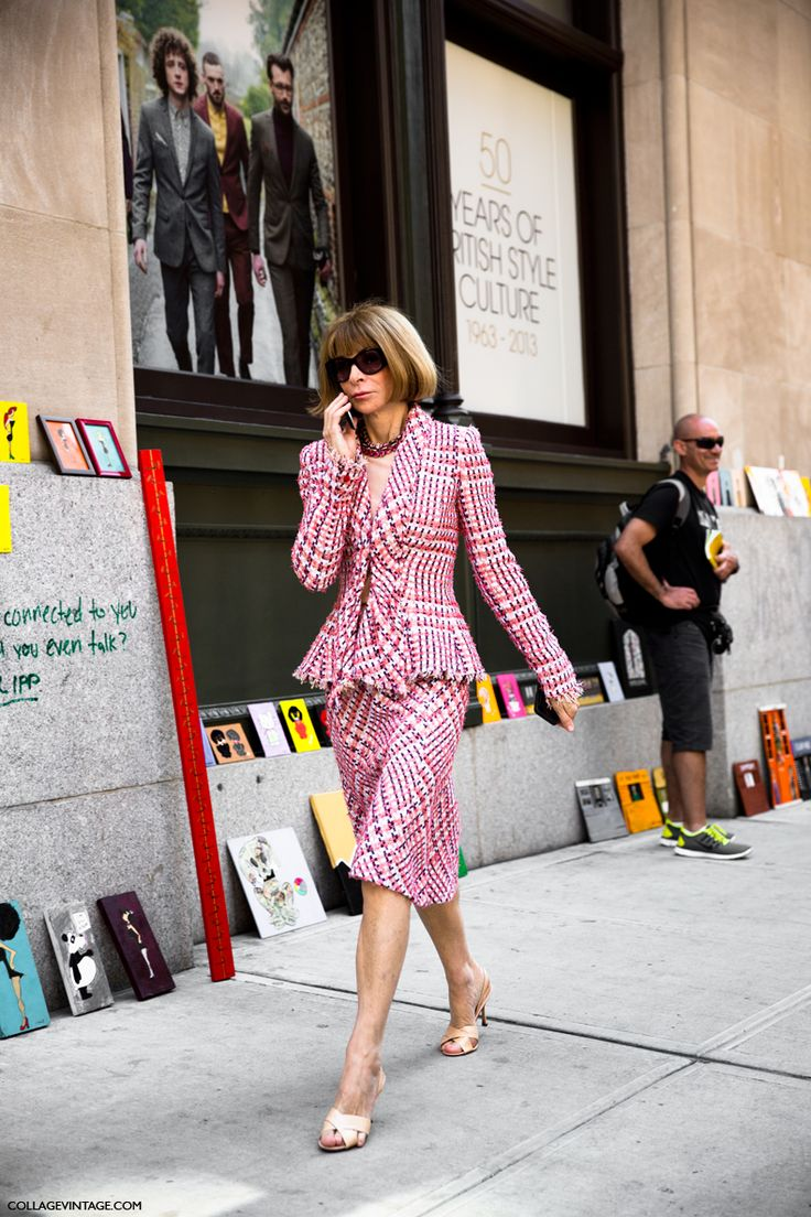 NYFW-New_York_Fashion_Week_Spring_Summer_2014-Street_Style-Say_Cheese-Collage_Vintage-Anna_Wintour-Vogue.jpg (790×1185)