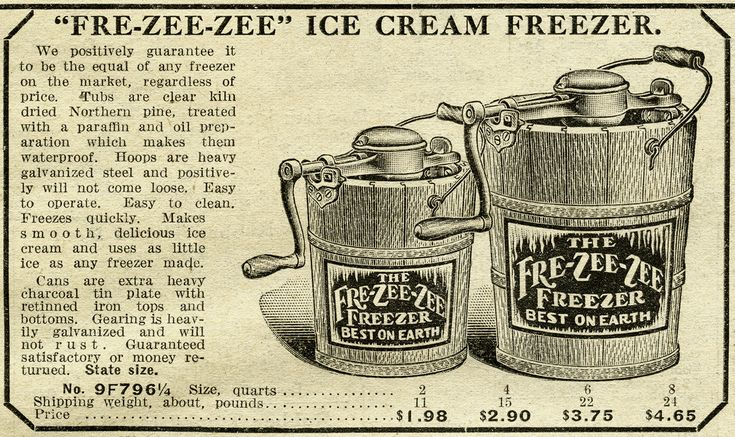 Antique Ice Cream Maker ~ Free Catalogue Ad and Clip Art | Old ...