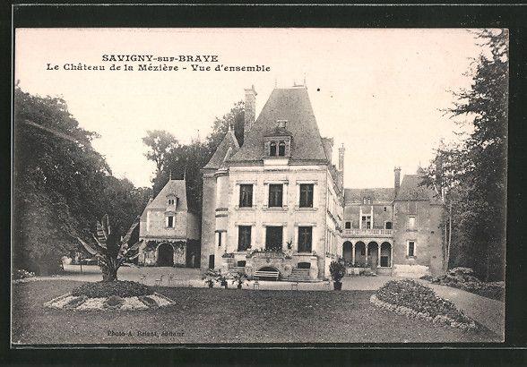 carte postale ancienne: CPA Saivigny-sur-Brave, le château de la Méziére, vue d´ensemble