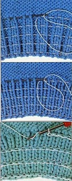 How to enter in the ribbed rubber thread