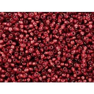 Toho kása 11/0, perm. finish silver-lined milky pomegranate (PF2113) - 15g - Kása - Gyöngyáruház
