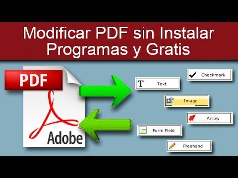 Modificar PDF sin Instalar Programas y Gratis - YouTube