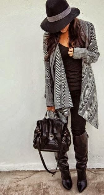 great outfit! click to see more Fall and Winter outfits incorporating sweaters. #fashion