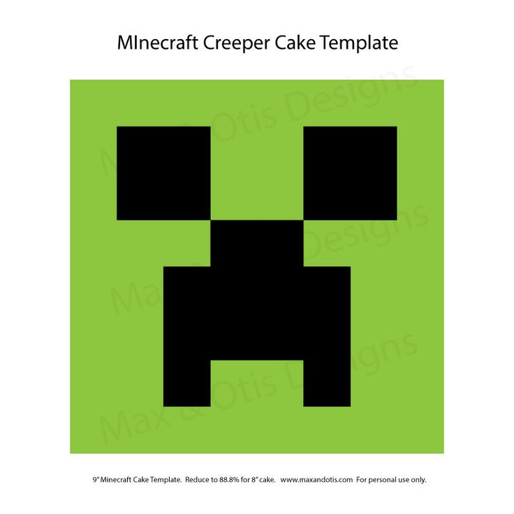 Minecraft Creeper Cake Template