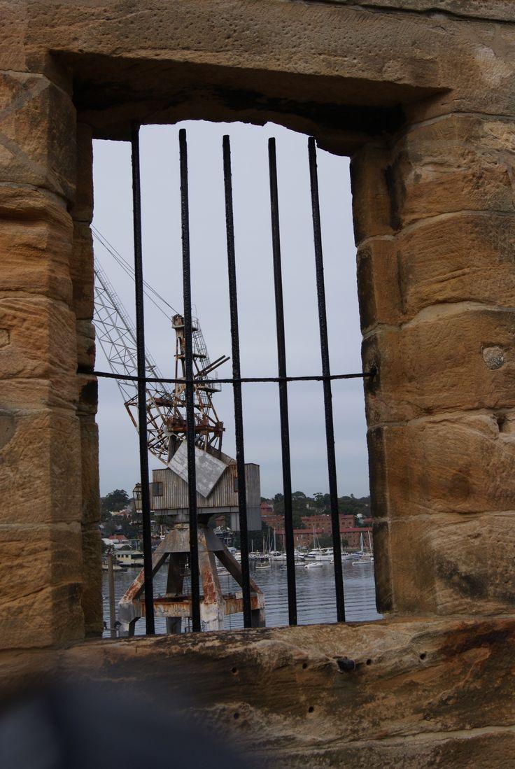 Through the window, Cockatoo Island, Sydney - June 2013