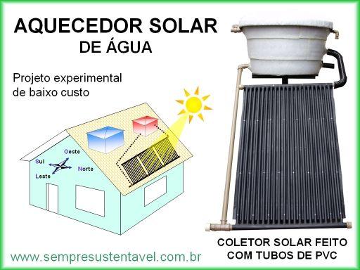 Arquitetura Sustentavel: AQUECEDOR SOLAR DE ÁGUA FEITO COM TUBOS DE PVC