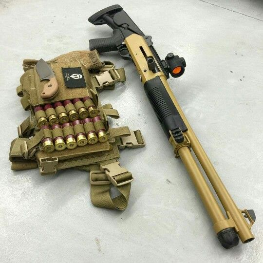 Cerakoted Benelli M4 with Trijicon MRO