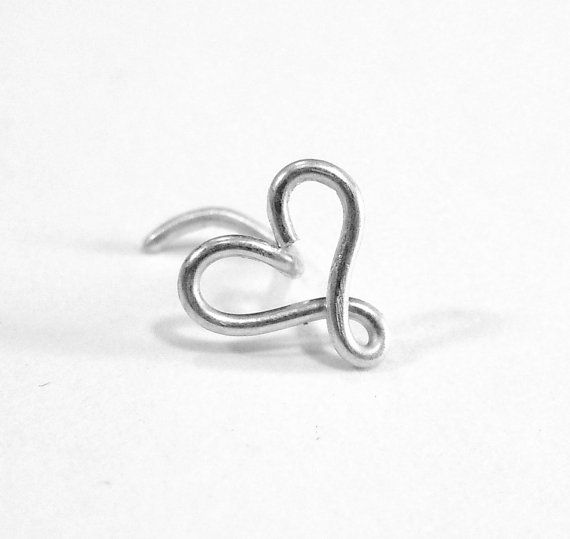 Heart Nose Ring 20 gauge by melissawoods on Etsy, $8.00