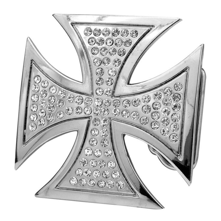 New product Alert: Womens Encrusted ...  *** Check it out here!  ***  http://www.monstersteel.com/products/cz-gem-metal-maltese-iron-cross-belt-buckle-jeweled-bling?utm_campaign=social_autopilot&utm_source=pin&utm_medium=pin