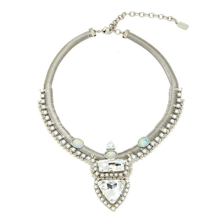 Lionette by Noa Sade Swarovski Crystal Stellan Earrings in Metallic Silver A6fJ0