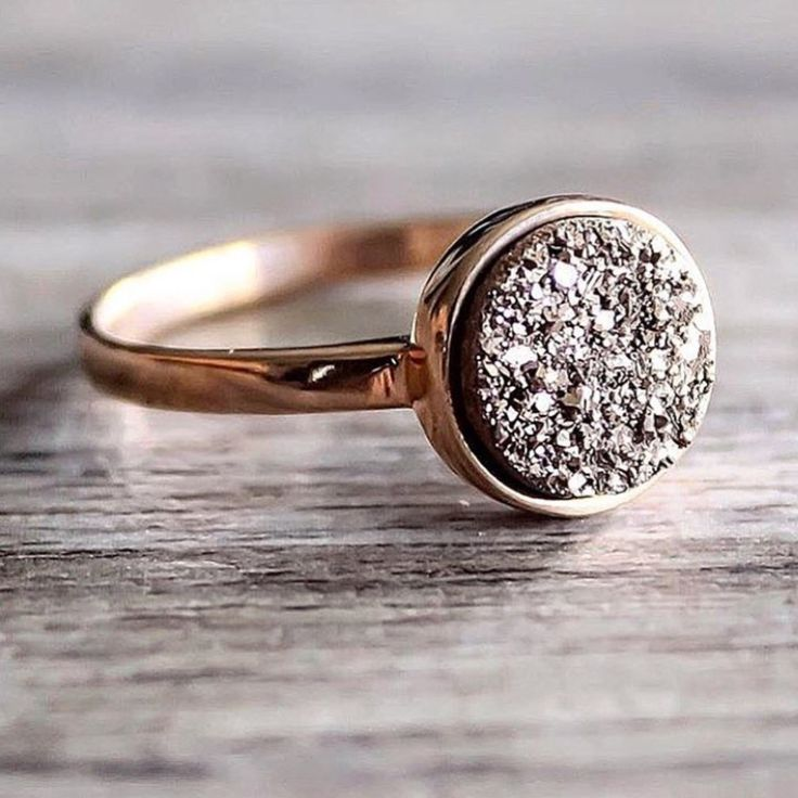 Rose Gold with Rose Gold Druzy Ring | Bohemian Jewelry | Indie and Harper