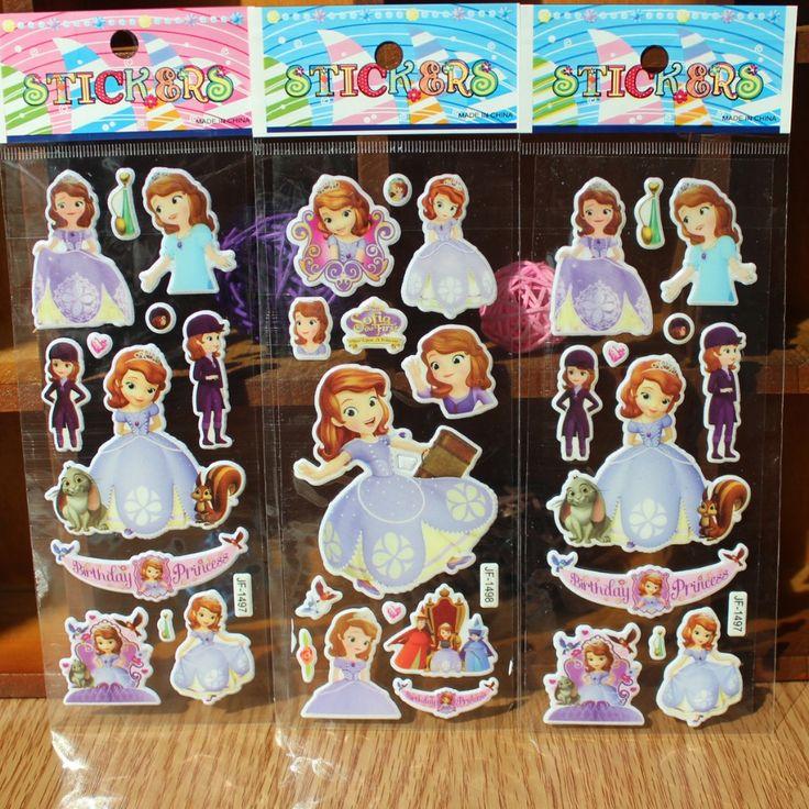 De dibujos animados tarjeta de bolsillo palo burbuja princesa Sofía de Europa y American movie juguetes pegatinas personajes de anime