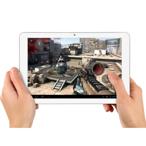 Quadra te invita sa urmaresti filme in format Full HD si sa te bucuri de imagini pline de culoare si emotii. Calitatea imaginii este imbunatatita datorita unghiului mare de vizualizare, de pana la 178 de grade, astfel contrastul este mult mai puternic, culorile mai intense si detaliile vizibile din orice unghi. Tableta Quadra Display-ului Super IPS de 10,1 inch ce are o rezolutie HD de 1280x800 pixeli.  http://www.evolioshop.com/ro/tablete-pc/tableta-quadra.html