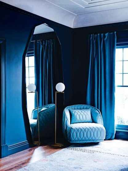 """The colours you'll be decorating with in 2017: Lapis Blue is bold but as Eiseman says """"Blues are anchoring colors...and give us reason to calm down a bit."""""""