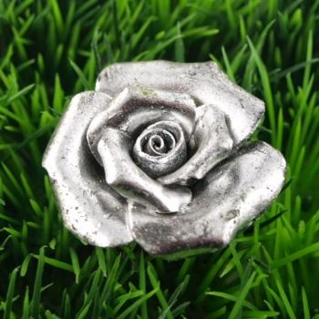 Stunning Silberne Poly Rosenbl te kleine Deko Rose D cm
