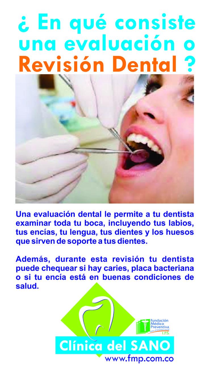En que consiste una Evaluación o Revisión Dental