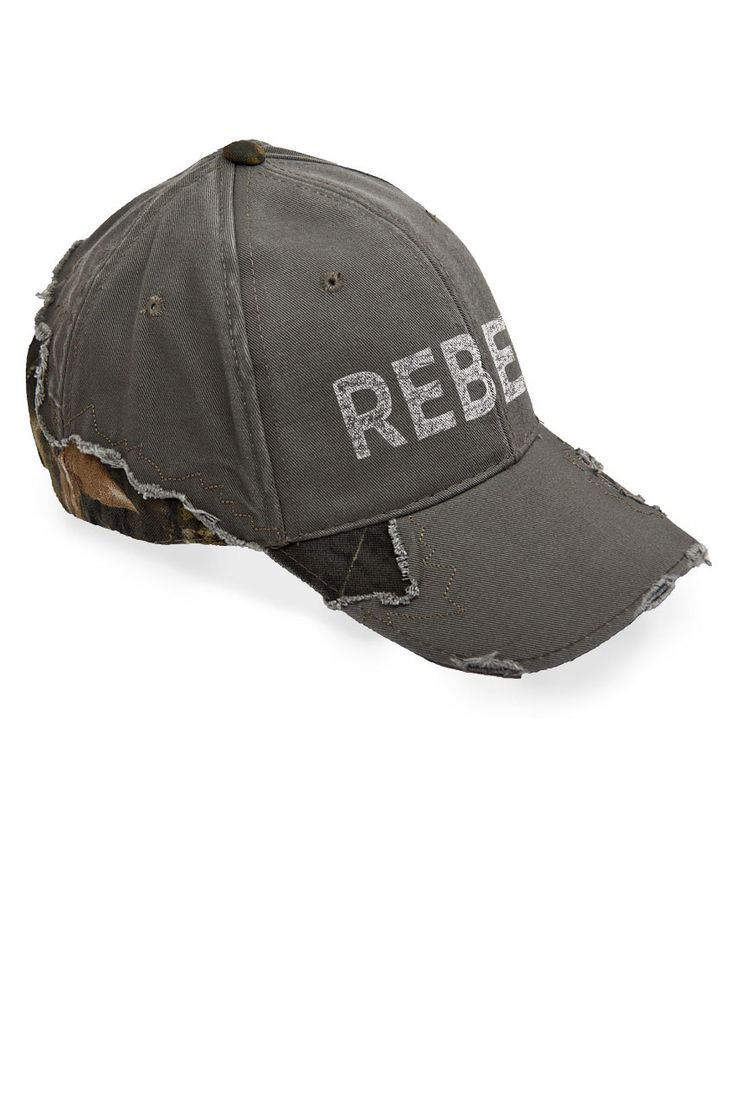 Country Girl Store - Women's Country Girl® Rebel Frayed Camo Cap, $21.25 (http://www.countrygirlstore.com/gifts-accessories/womens-hats/country-girl-rebel-frayed-camo-cap)