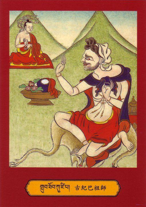 "22) Mahasiddha Kuzepa....Kucipa / Kujiba (ltag lba can), ""The Man with a Neck Tumor"" 5) Mahasiddha Lakshimikara.....(legs smin kara), ""She Who Makes For"