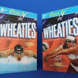 US Olympians Michael Phelps and Misty May-Treanor sign endorsement deal with Wheaties breakfast cereal.