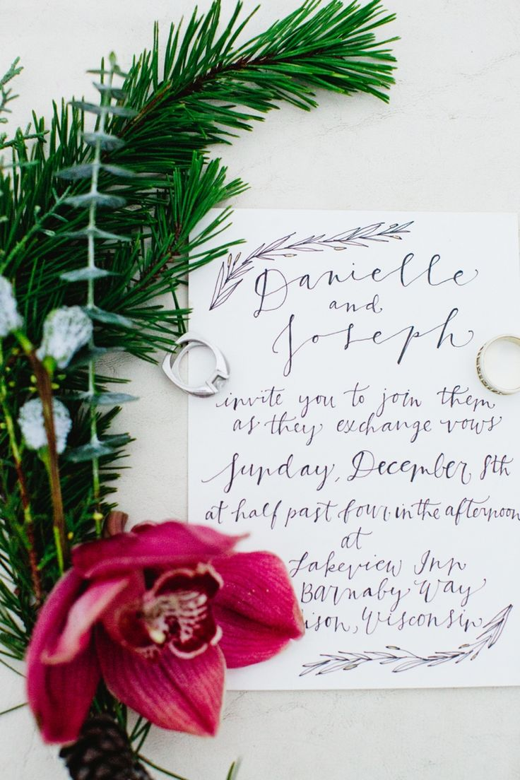 Hand-written wedding invitation // Photo by http://cassandraeldridge.com // see more: http://theeld.com/1onRVBv