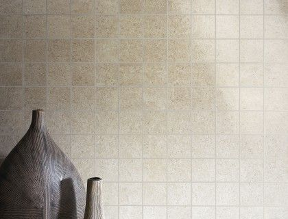 Crema Marfil by My Way mosaic rectified ceramic tile.