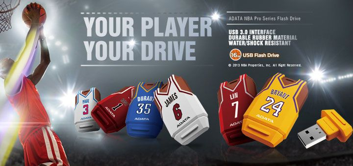 ADATA USB 3.0 Drives Up the Middle for NBA 2013 Season