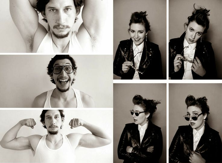 Lena Dunham and Adam Driver, Hannah Horvath and Adam Sackler #Girls #TV #TVshow #HBO