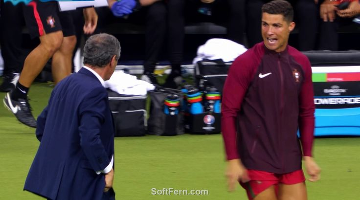 Cristiano Ronaldo with Fernando Santos – 5 seconds left to the end of the Final!!!        Video. Winners of Euro 2016 celebrate their victory after final. ... 30  PHOTOS        ... EURO 2016 CHAMPIONS: Portugal!        More details:         http://softfern.com/NewsDtls.aspx?id=1106&catgry=6            SoftFern News, SoftFern Sport News, SoftFern Football News, Euro 2016, SoftFern videos, Ronaldo, final, Griezmann, Pepe, Portugal v France, Payet; Giroud, Evra; Pogba, Matuidi, Sissoko, Lloris…