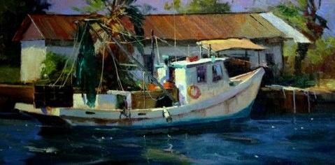 "Artist: Rusty Jones - ""Missy M"" - 12"" x 16""   Oil on Linen - Plein Air Painting"