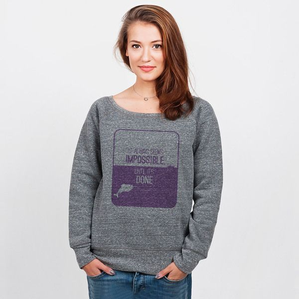 Impossible - bluza damska z dekoltem w artiglo na DaWanda.com