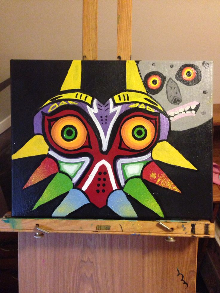 I painted this a while back for my brother! Love it! Majoras mask!