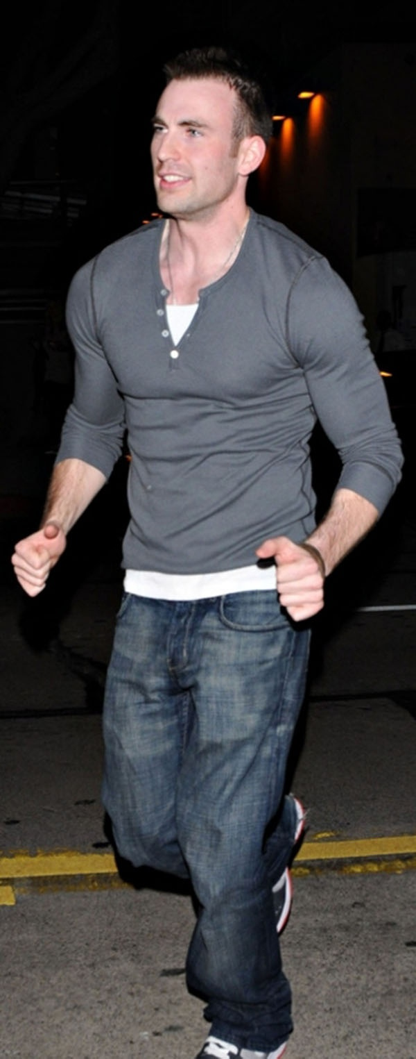 Chris Evans, look at those muscles